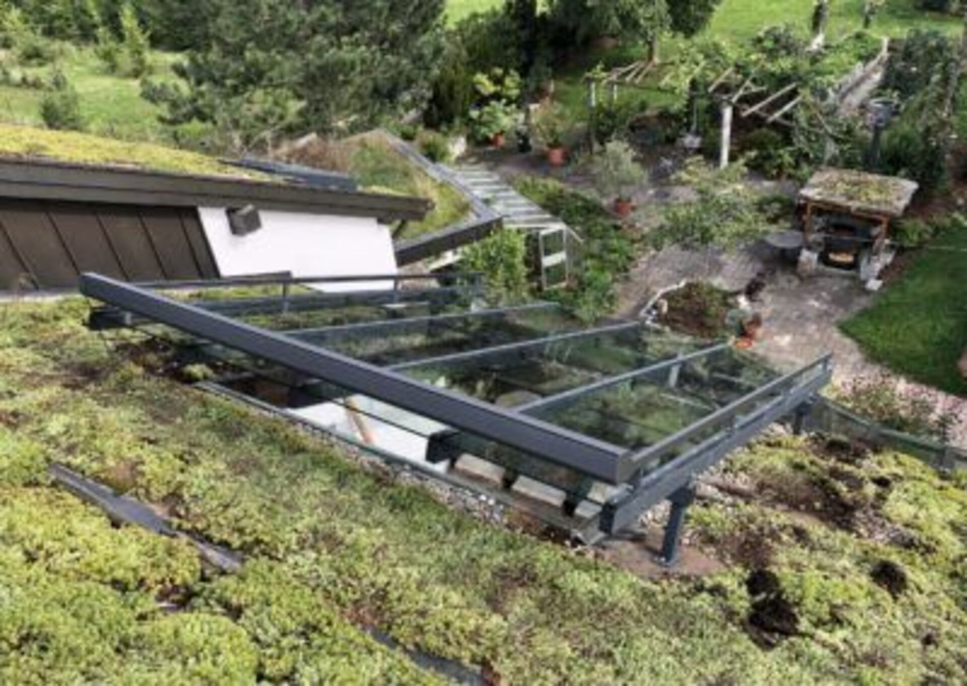Terrassendach aus Glas
