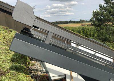 Terrassendach mit Aufdachmarkise