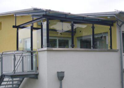 terrassendach glas stahl