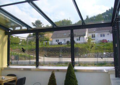 terrassendach glas
