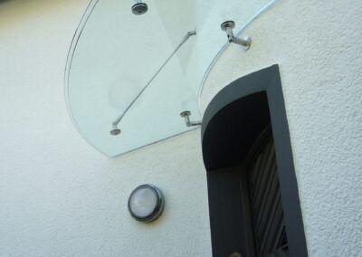 glasvordach rundglas