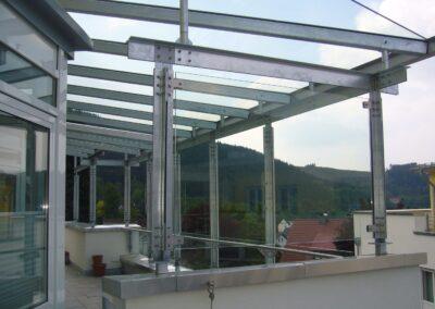 terrassenüberdachung stahl glas